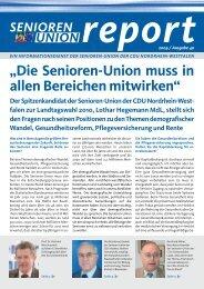 Die komplette Ausgabe Nr. 40 des Senioren-Union Reports können ...