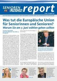 Die komplette Ausgabe Nr. 38 des Senioren-Union Reports können ...