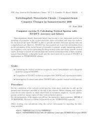 Vertiefungsfach Theoretische Chemie / Computerchemie Computer ...