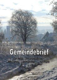 2012-11-15 Winter-Gemeindebrief - Evangelische Kirchengemeinde ...