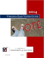 Voter Education - Virginia State Board of Elections - Commonwealth ...