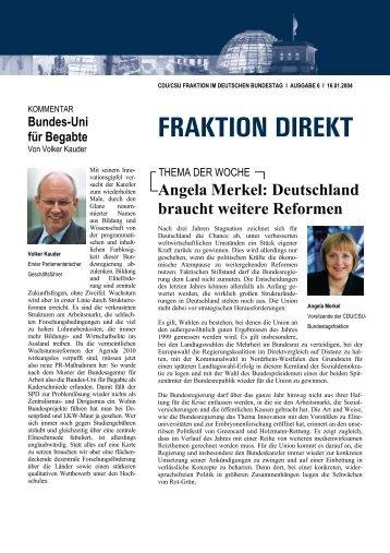 Fraktion direkt - Ausgabe 6 vom 16. Januar 2004
