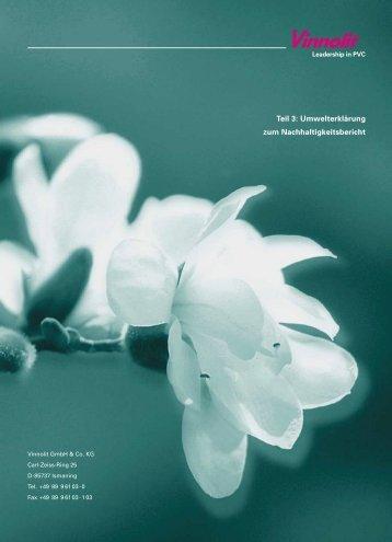 Teil 3: Umwelterklärung zum Nachhaltigkeitsbericht - Vinnolit