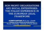 NON PROFIT ORGANISATIONS AND SOCIAL ENTERPRISES AND ...
