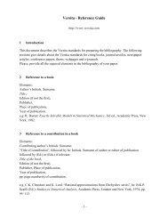 Versita - Reference Guide