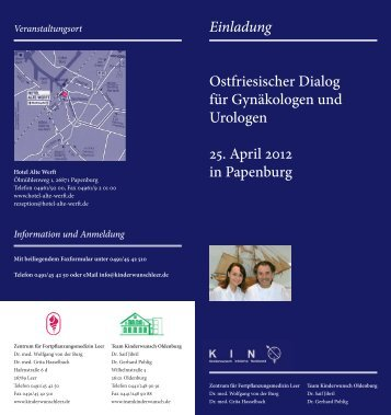 Einladung Ostfriesischer Dialog für Gynäkologen und Urologen 25 ...