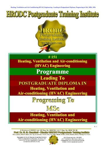Heating Ventilation and Air Conditioning (HVAC ... - Hrodc.com