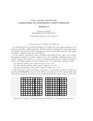 LABORATORIO DI COMPLESSITÀ COMPUTAZIONALE LEZIONE 6 ...