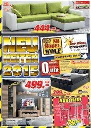Neuheiten 2015 bei SB Möbel Wolf