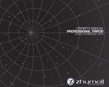 Download the Zhumell Professional Tripod Manual - Telescopes.com