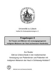 Follow-Up-Fragebogen Malignes Melanom - Institut für ...