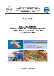 VIETNAM COUNTRY REPORT Tagging Program for ... - Seafdec