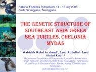 National Fisheries Symposium Kuala Terengganu ... - Seafdec