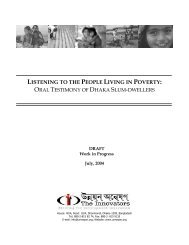 Listening to the People Living in Poverty: Oral Testimony of Dhaka ...