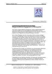 Bürgerschaftliches Engagement im Wohnquartier - Hamburger ...
