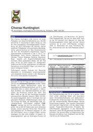 Chorea Huntington - Maiwald, Dr. Robert Maiwald