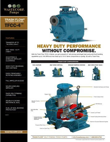 TFCC-4 Specs - Wastecorp Pumps