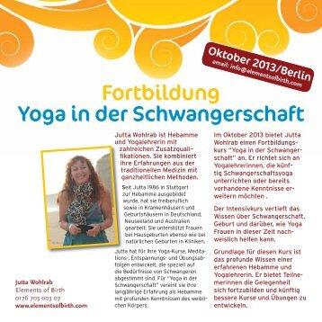 Fortbildung: Yoga in der Schwangerschaft Flyer [PDF] - Elements of ...