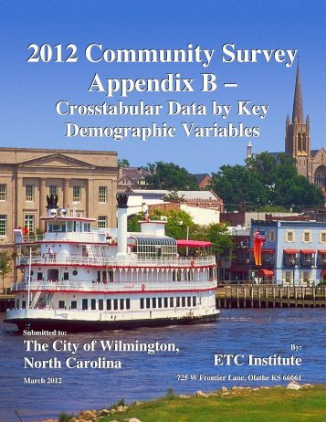 View cross-tabular data by demographics - City of Wilmington