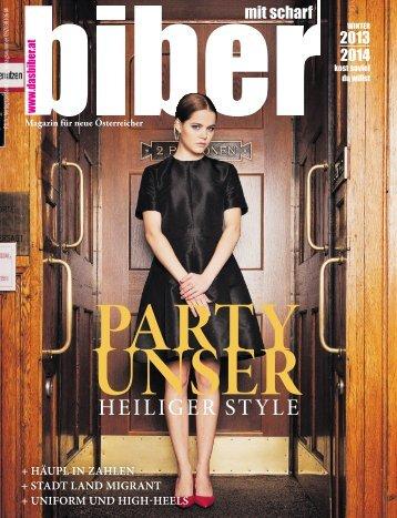 Die biber-Ausgabe vom Winter 2013.