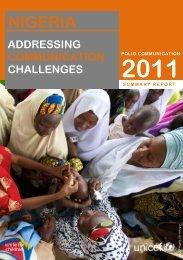nigeria addressing communication challenges 2011 - PolioInfo