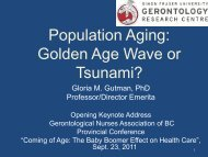 Population Aging: Golden Age Wave or Tsunami? - GNABC