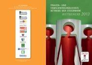 WETTBEWERB 2013 - Familienfreundlichster Betrieb