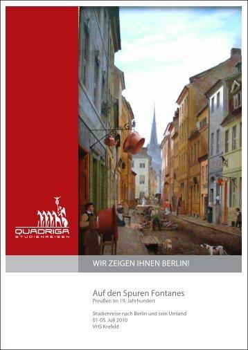 Auf den Spuren Fontanes - Quadriga-Studienreisen