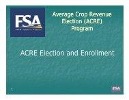 ACRE Election and Enrollment - FarmDoc