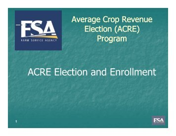 ACRE Election and Enrollment - FarmDoc