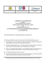 on the Development of a Dual Graduate Degree program in Civil ...
