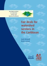 Fair deals for watershed services in the Caribbean - CANARI