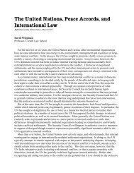 The United Nations, Peace Accords, and International Law
