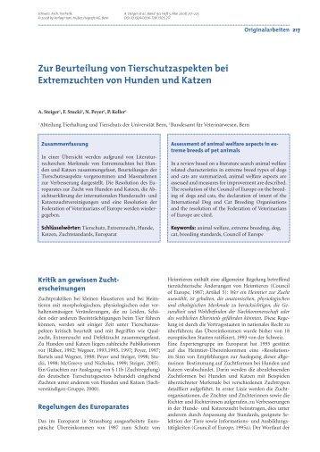 :UR %XTREMZUCHTEN - Vetsuisse-Fakultät - Universität Bern