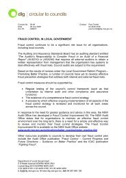 Fraud Control In Local Government - Division of Local Government