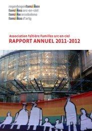 RAPPORT ANNUEL 2011-2012 - Regenbogenfamilien
