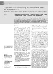 Diagnostik und Behandlung HIV-betroffener Paare mit Kinderwunsch