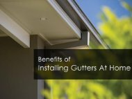 Benefits of Gutter Installation in Perth