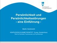 Persönlichkeit und Persönlichkeitsstörungen - Klinik für Psychiatrie ...