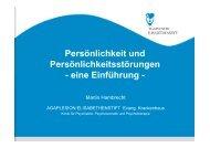 Persönlichkeitsstörungen - Klinik für Psychiatrie, Psychosomatik und ...