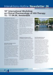 Newsletter 26 International Clinical Pharmacology Workshop on HIV ...