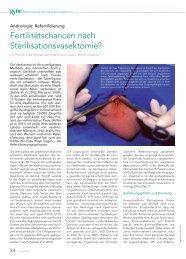 Sterilisation und Refertilisierung - Andrologie-Centrum-München