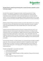 Schneider Electric creează Energy University pentru a susţine ...
