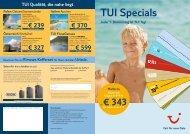TUI Specials März - First Reisebüro