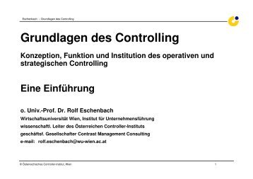 grundlagen controlling