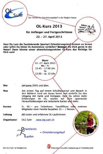 Ausschreibung Ferienkurs 2013 mit Anmeldetalon (PDF) - OLG Suhr