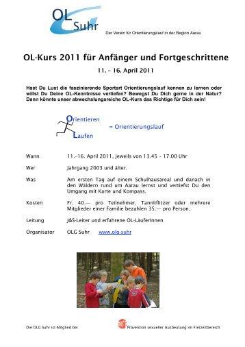 OL-Kurs 2011 für Anfänger und Fortgeschrittene - OLG Suhr