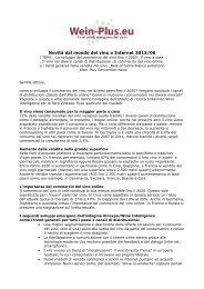 Novità dal mondo del vino e Internet 2013/06 - Wein-Plus