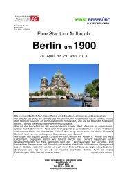 BERLIN um 1900 - First Reisebüro