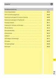 40. 01 Inhaltsverzeichnis Zubehör - Harting